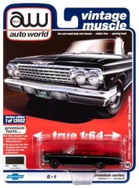 Chevrolet  - Impala 1962 black - 1:64 - Auto World - SP045B - AWSP045B | Toms Modelautos