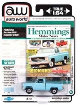 Chevrolet  - Scottsdale 1979 light blue - 1:64 - Auto World - SP048A - AWSP048A | Toms Modelautos