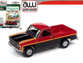 Chevrolet  - Scottsdale 1979 red/black - 1:64 - Auto World - SP048B - AWSP048B | Toms Modelautos