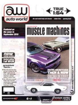 Dodge  - Challenger 1970 white - 1:64 - Auto World - SP050B - AWSP050B | Toms Modelautos