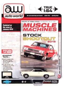 Chevrolet  - Chevelle SS 1967 cream/black - 1:64 - Auto World - SP051B - AWSP051B | Toms Modelautos