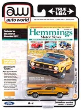 Mustang  - Boss 351 1971 yellow gold/black - 1:64 - Auto World - SP052A - AWSP052A | Toms Modelautos