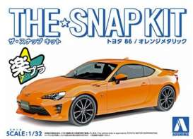Toyota  - 86 Orange - 1:32 - Aoshima - 05419 - abk05419 | Toms Modelautos