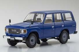 Toyota  - Land Cruiser  blue - 1:18 - Kyosho - 08956bl - kyo8956bl | Toms Modelautos