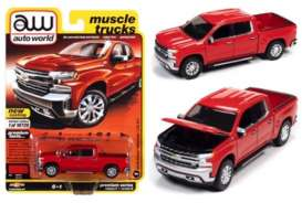 Chevrolet  - Silverado 2019 red - 1:64 - Auto World - SP053B - AWSP053B | Toms Modelautos