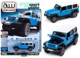 Jeep  - Wrangler 2018 blue - 1:64 - Auto World - SP054A - AWSP054A | Toms Modelautos