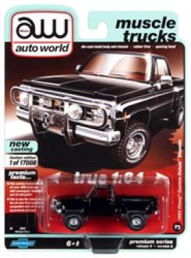 Chevrolet  - Custom DeLuxe 1980 black - 1:64 - Auto World - SP057A - AWSP057A | Toms Modelautos