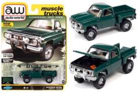 Chevrolet  - Custom DeLuxe 1980 green - 1:64 - Auto World - SP057B - AWSP057B | Toms Modelautos