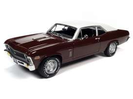 Chevrolet  - Nova SS 396 1970 black cherry - 1:18 - Auto World - AMM1230 - AMM1230 | Toms Modelautos