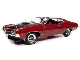 Ford  - Torino Cobra 1970 red - 1:18 - Auto World - AMM1234 - AMM1234 | Toms Modelautos