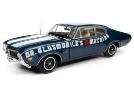 Oldsmobile  - Cutlass 442 1969 blue - 1:18 - Auto World - AMM1235 - AMM1235 | Toms Modelautos