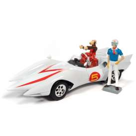 Speed Racer  - Mach 5 white - 1:18 - Auto World - AWSS124 - AWSS124 | Toms Modelautos