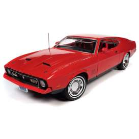 Ford  - Mustang 1971 red - 1:18 - Auto World - AWSS126 - AWSS126 | Toms Modelautos