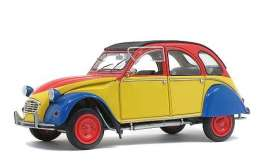 Citroen  - 2CV6 1985 yellow/red/blue - 1:18 - Solido - 1805011 - soli1805011 | Toms Modelautos