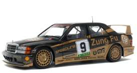 Mercedes Benz  - 190E 1990 black/gold - 1:18 - Solido - 1801003 - soli1801003 | Toms Modelautos