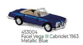 Facel  - Vega III 1963 blue - 1:87 - Norev - 453004 - nor453004 | Toms Modelautos