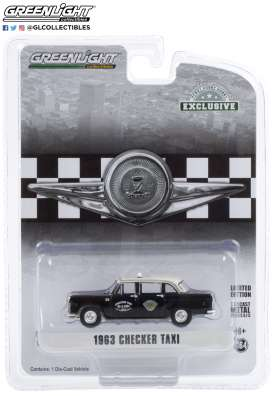 Checker  - 1963 black - 1:64 - GreenLight - 30207 - gl30207 | Toms Modelautos