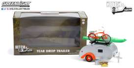 Teardrop Caravan  - silver/orange - 1:24 - GreenLight - 18460B - gl18460B | Toms Modelautos