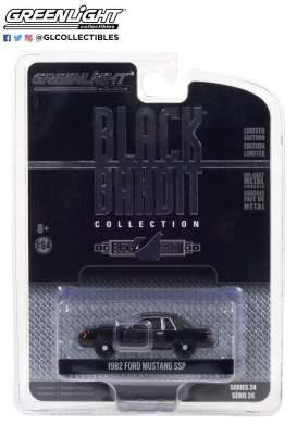 Ford  - Mustang 1982 black - 1:64 - GreenLight - 28050B - gl28050B | Toms Modelautos
