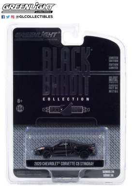 Chevrolet  - Corvette Stingray 2016 black - 1:64 - GreenLight - 28050F - gl28050F | Toms Modelautos