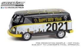 Volkswagen  - Type 2 Panel 2020 black/white - 1:64 - GreenLight - 30222 - gl30222 | Toms Modelautos