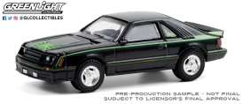 Ford  - Mustang 1980 black/green - 1:64 - GreenLight - 30228 - gl30228 | Toms Modelautos