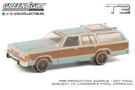 Ford  - LTD 1980 blue/brown - 1:64 - GreenLight - 44920C - gl44920C | Toms Modelautos