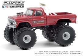 Ford  - F-250 Monster Truck 1978 red - 1:64 - GreenLight - 49080C - gl49080C | Toms Modelautos