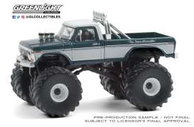 Ford  - F-250 Monster Truck 1979 green/grey - 1:64 - GreenLight - 49080D - gl49080D | Toms Modelautos