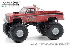 Chevrolet  - Silverado Monster Truck 1987 red - 1:64 - GreenLight - 49080F - gl49080F | Toms Modelautos