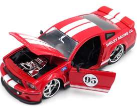Ford  - Mustang Shelby GT500 KR  2008 red/white - 1:24 - Jada Toys - 31867 - jada31867 | Toms Modelautos