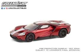 Ford  - GT 2017 red/white - 1:64 - GreenLight - 37220E - gl37220E | Toms Modelautos