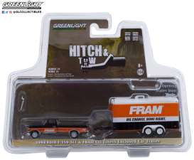 Ford  - F-150 1994 orange/black - 1:64 - GreenLight - 32210B - gl32210B | Toms Modelautos
