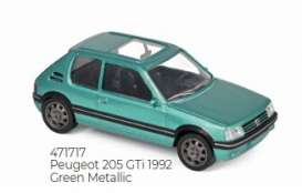 Peugeot  - 205 GTi 1992 green - 1:43 - Norev - 471717 - nor471717 | Toms Modelautos
