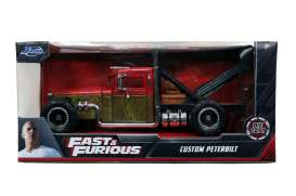 Fast & the Furious Peterbilt - Hobbs & Shaw Custom Truck 2019 cream/orange - 1:24 - Jada Toys - 32089 - jada32089 | Toms Modelautos