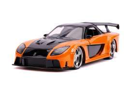 Mazda  - RX-7 F&F  1993 orange/black - 1:32 - Jada Toys - 30736 - jada30736 | Toms Modelautos