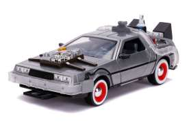 Delorean  - Back to the Future III grey-silver - 1:24 - Jada Toys - 32166 - jada32166 | Toms Modelautos