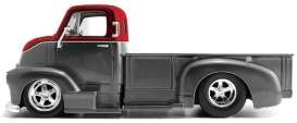 Chevrolet  - COE pick-up 1952 grey/red - 1:24 - Jada Toys - 31544 - jada31544 | Toms Modelautos