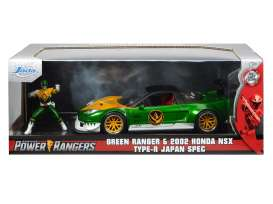 Honda  - NSX *Power Ranger* 2002 green/white/yellow - 1:24 - Jada Toys - 31909 - jada31909 | Toms Modelautos