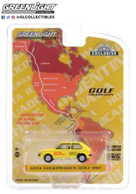 Volkswagen  - Golf Mk1 1974 yellow/red - 1:64 - GreenLight - 30239 - gl30239 | Toms Modelautos