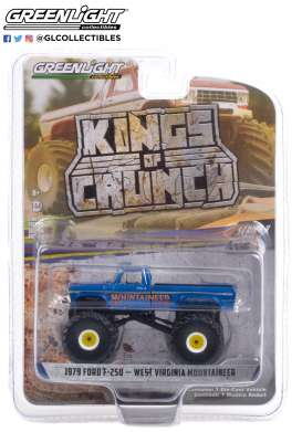 Ford  - F-250 1979 blue - 1:64 - GreenLight - 49090E - gl49090E | Toms Modelautos