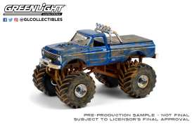 Chevrolet  - K-10 Monster Truck 1970 blue - 1:64 - GreenLight - 49090F - gl49090F | Toms Modelautos