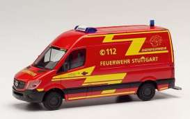 Mercedes Benz  - Sprinter red - 1:87 - Herpa - H095457 - herpa095457 | Tom's Modelauto's