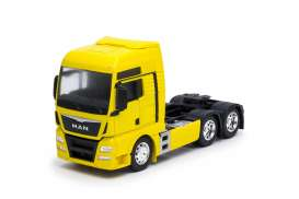 MAN  - TGX (6x4) 2015 yellow - 1:32 - Welly - 32650Ly - welly32650Ly | Toms Modelautos
