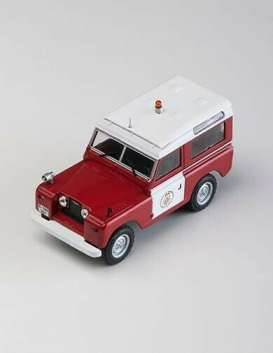 Land Rover  - II Bomberos  red/white - 1:43 - Magazine Models - fire802 - magfire802 | Toms Modelautos