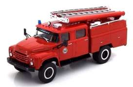 Zil  - 130 *Bomberos Cuba* red - 1:43 - Magazine Models - magfirecomand | Toms Modelautos