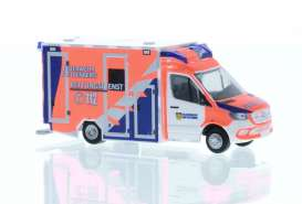 Mercedes Benz  - Sprinter white/orange/blue - 1:87 - Rietze - R76221 - RZ76221 | Toms Modelautos