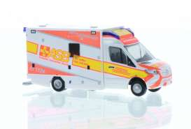 Mercedes Benz  - Sprinter white/orange - 1:87 - Rietze - R76226 - RZ76226 | Toms Modelautos