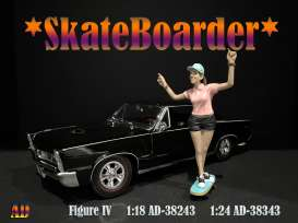 Figures  - Skateboarder #4 2020  - 1:18 - American Diorama - 38243 - AD38243 | Toms Modelautos