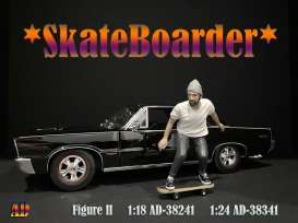 Figures  - Skateboarder #2 2020  - 1:18 - American Diorama - 38241 - AD38241 | Toms Modelautos